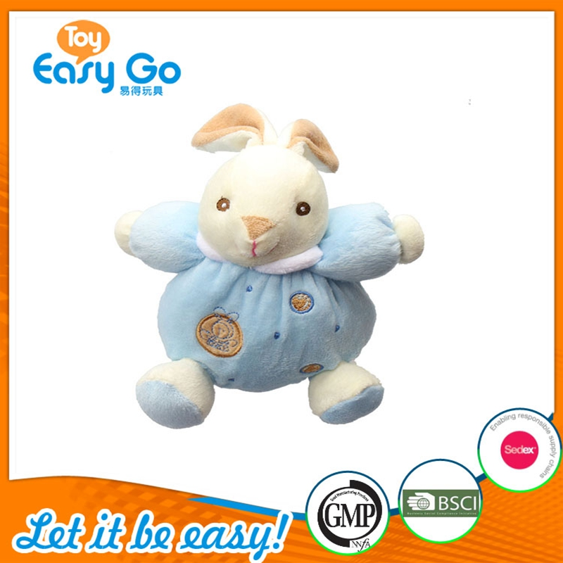 Farm Animal Stuffed Rabbit Plush Toy With Blue clothes for Children