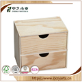 BSCI &FSC handmade hinged small cheap small plywood two drawer box