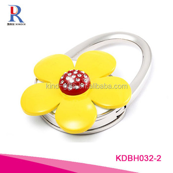 Beauty Flower shape Bag Holder diamond design Bag holder