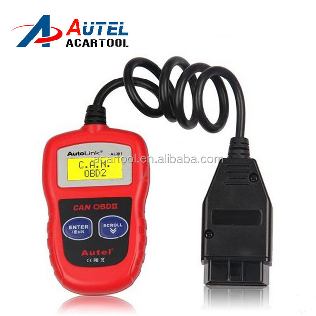 100% Original Autel Autolink AL301 OBDII/CAN Code Reader Clear DTCs AL 301 OBD2 Auto Diagnostic Scanner