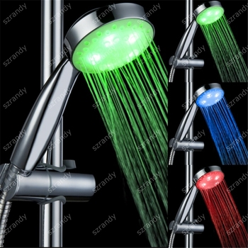 temperature sensor 3 colors led music shower head LD8008-A15