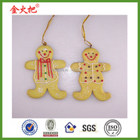 2015 new design gift resin Gingerbread ornament for holiday souvenirs