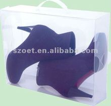 2012 hot sale clear plastic shoe box with customized design