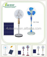Sell well 12V DC Solar Stand Fan with solar panels in 16 Inches Colors Optional OEM Welcomed