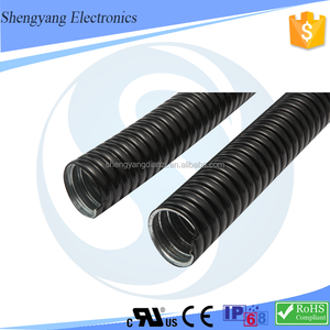 UL listed Liquid Tight Flexible Steel Conduit PVC Coated Corrugated Metal Pipe