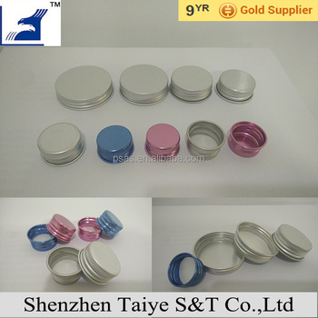 Colored aluminium screw Cap metal bottle lid