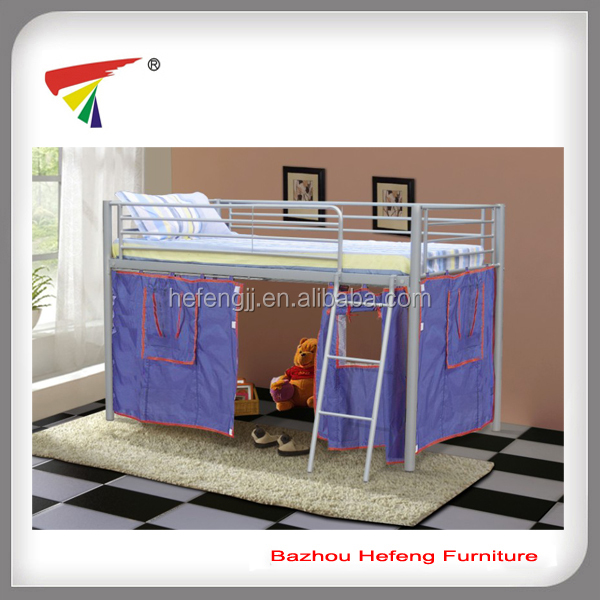 European style kids middle bunk bed H110cm Children bed
