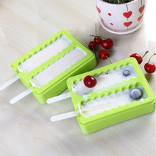 Wholesale Reusable Silicone Popsicle Mold for Ice Cream Bar Ice Pop with lid