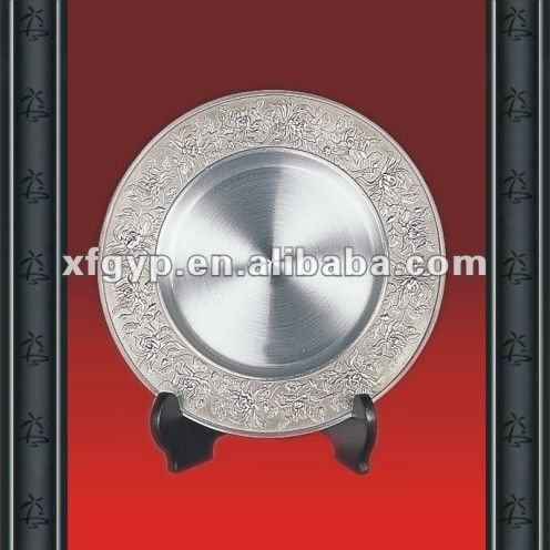 new design Circular pure tin metal plate