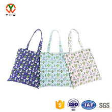 wholesale custom printed luxury fashion women canvas tote shopping bag