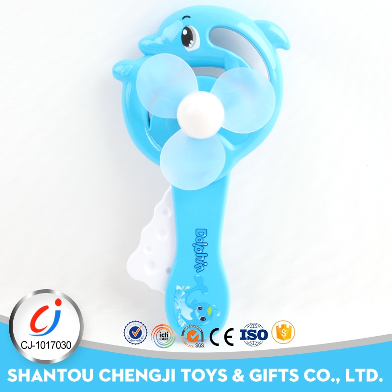 Bland new Summer hand push plastic mini fan toy for kids
