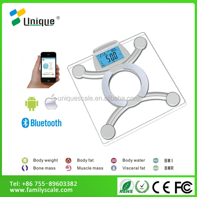 Fashion Design Digital Body Fat Analyser Bathroom Bmi Height And Weight Scales For Women