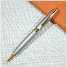 Business advertisement low cheap ball pen with gold plating clip