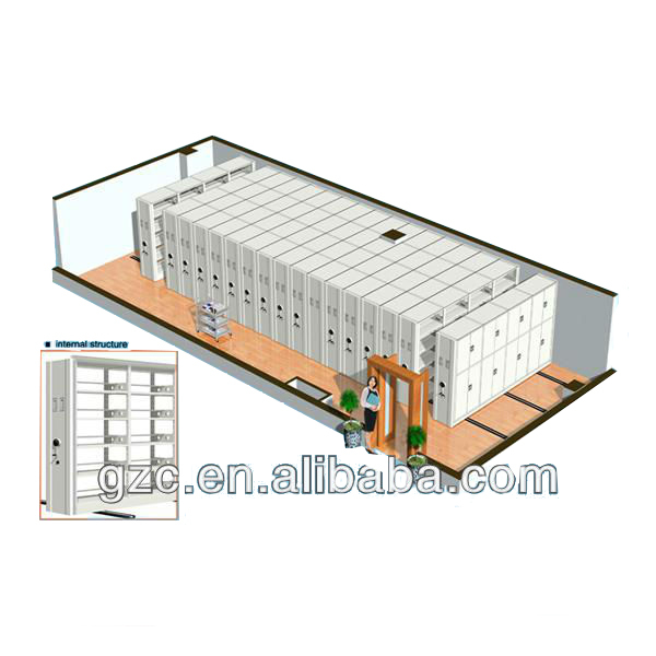 CE ISO9001 Fancy Steel Rack Compact Archives Manual Mobile Filing Shelving Storage System