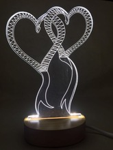 3d Acrylic led table lamp / bedside lamp / night light