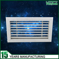 HVAC ventilation air conditioning directional PVC plastic return air vent grille