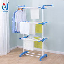 Stainless steel three layer cloth hanger clothes rack