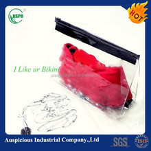 new design bikini/swimsuit pvc clear vinyl zip bag