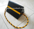"Durable Rubber Aircraft Chock Single with Rope 12""x9""x8"""