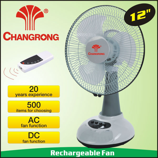 multi function 12inch rechargeable fan with light with remote