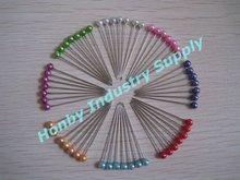 32mm Colored Plastic Pearl Head Quilting Pin for Pin Art