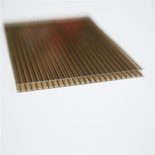 uv coating china fire proof smoked color hollow polycarbonate sheet