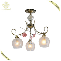 High Quality Fancy Flower Decorative Ceiling Lamp Antique Base, Crystal Beside Ceiling Lamp