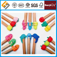new design custom logo pencil with eraser topper