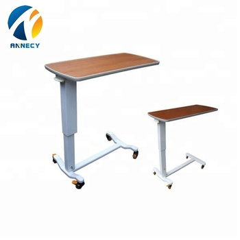 AC-BT003 hot sale hospital equipments cheap bedside movable dinning over bed table