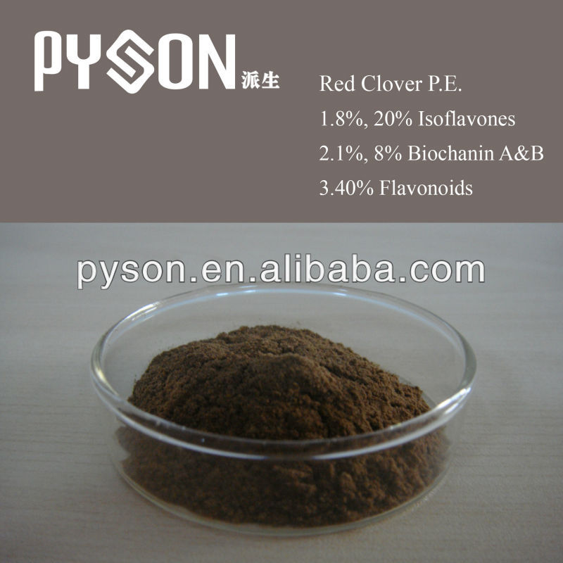 100% purity 40% Flavonoids 8% 20% Isoflavones 1% 8% Biochanin A&B Red Clover P.E.