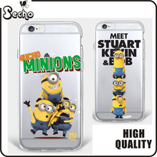 Hot sale Despicable Me Cartoon phone case for iphone 7 Minions Case for iphone 6 6s 6plus 7plus 5 5s SE 4