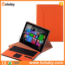 Folding Leather Bluetooth Detachable Bluetooth Keyboard Magnetic Flip PU Leather Case and Touch Panel for Microsoft Surface 3