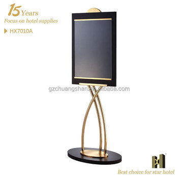 hot sale brass advertising display stand/sign board stand