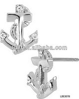 Silver Plated Stud Earrings Nautical Jewelry Wholesale LDE3078