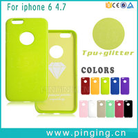 High End Cell Phone Cases For Apple iPhone 6S Cover Glitter Thicken Soft TPU Case