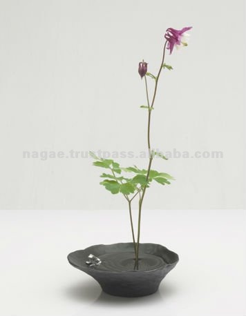 Small Japanese Metal Flower Vase