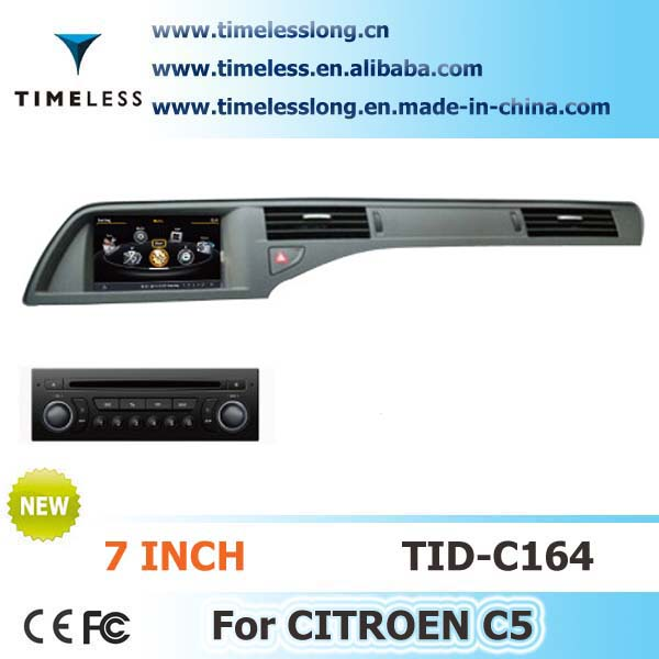 Timelesslong Car DVD Sat Navi for CITROEN C5 2007-2012 year with A8 chipest, bluetooth, sd, ipod, 3g, wifi