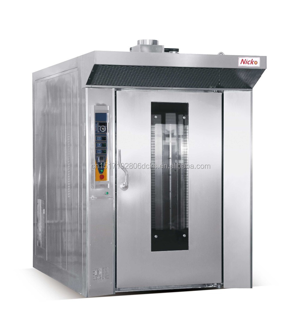 64 Trays gas rotary oven for bakery