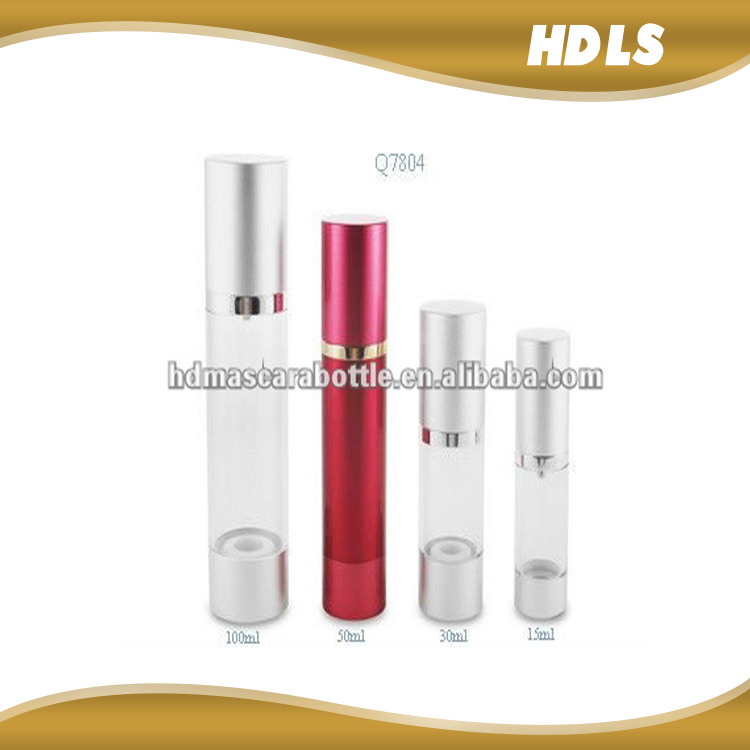 high quality clear color cosmetic injection molding packaging airless pump bottle