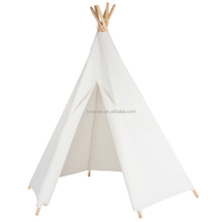 2016 Lovetree Hexagonal Cotton Canvas Kids Girls Boys White Teepee Tents Indoor Outdoor Tipi Tent