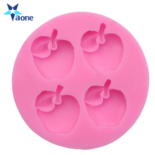 Cheap Price Four Cups Silicon Cake Mold Apple Shaped Baking Mold Wholesale Tools