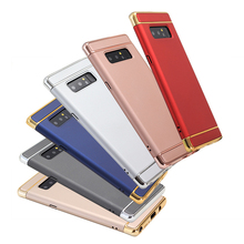 3 in 1 Hybrid Fashion High Quality Frosted Plating Hard PC Phone Case for Samsung Galaxy Note 8