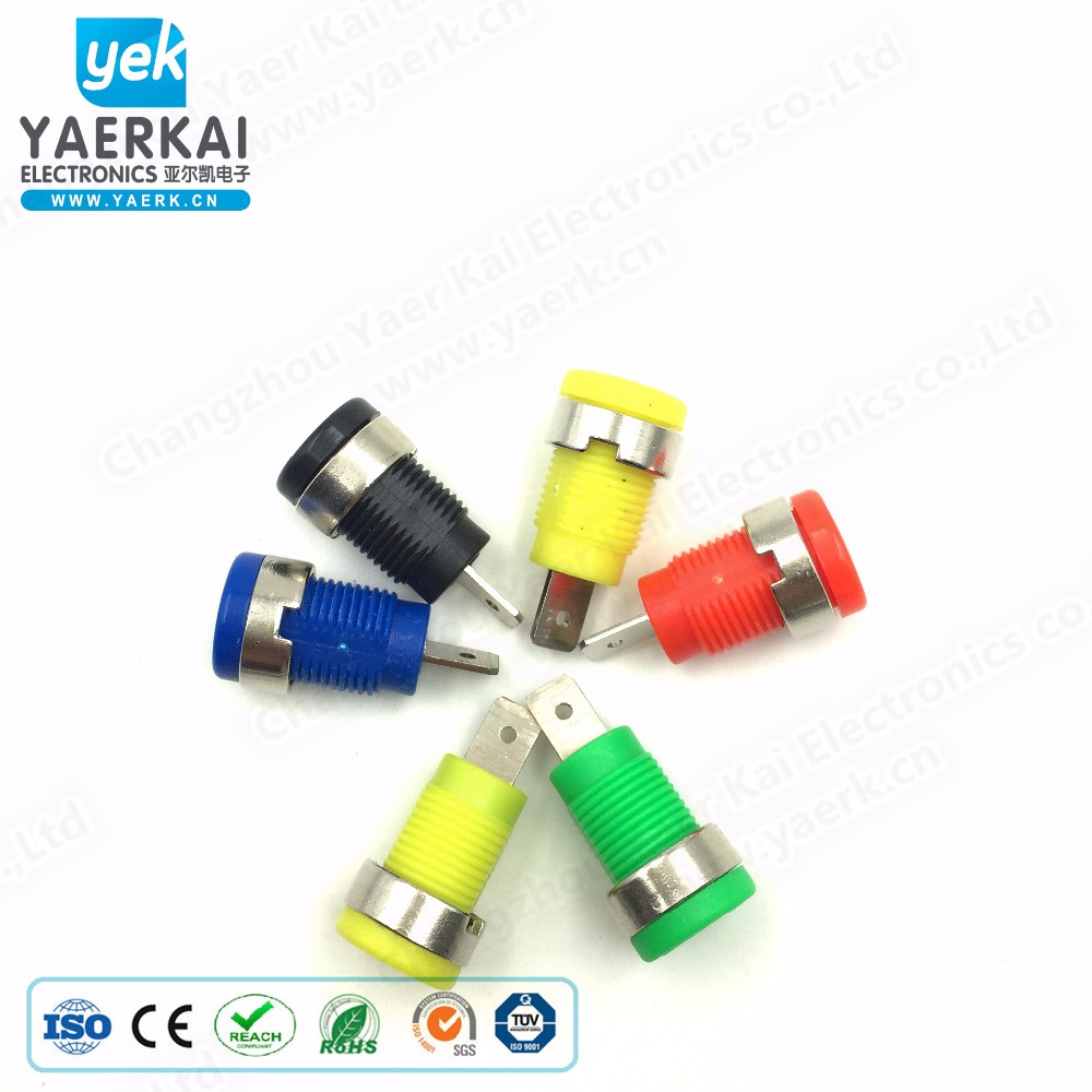 High Quality Wholesale Custom Cheap 4mm male banana plug with gold plated metal square