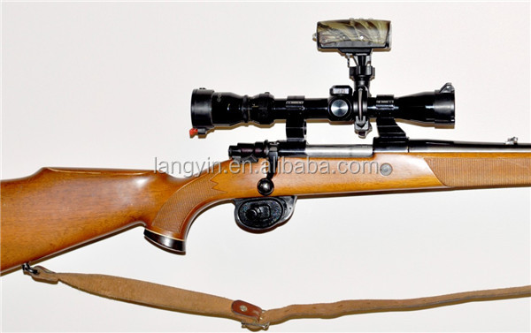 2015Best quality gun mounted camera 1080P with torch light camera to guns hunting camera