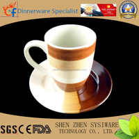 personalized color glazed bulk tea coffee cup and saucer sets wholesale
