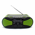 emergency solar hand crank led flashlight noaa am fm weather portable radio