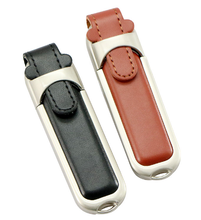 Real Capacity Leather Usb Flash Drive 4GB 8GB with custom logo