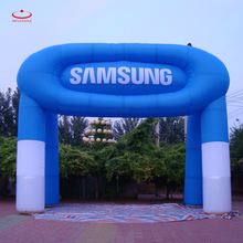 LED christmas inflatable arch event arch with logo printing