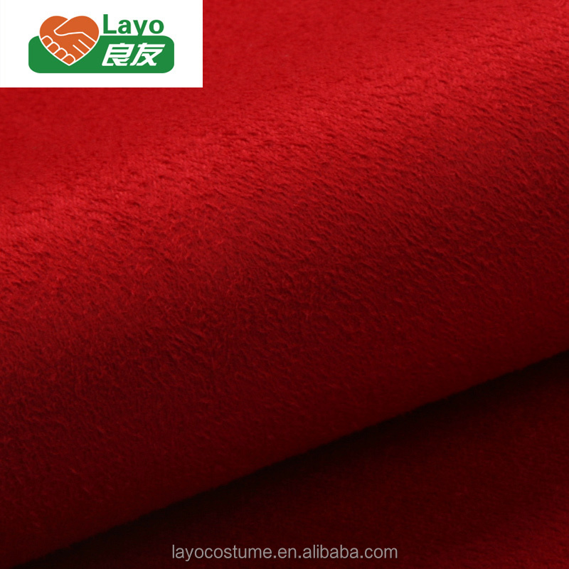 Alibaba China Suede Warp 100% Polyester Suede Fabric Faux Fur For Sofa 105D*200D Suede Fabric