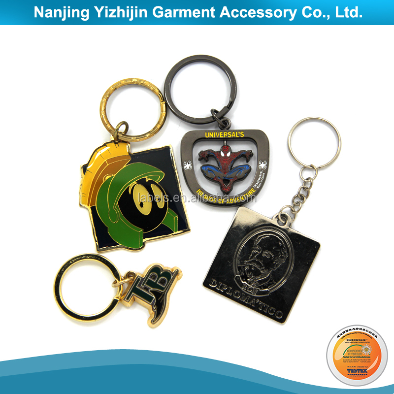Special Design Metal Square Key Chain With Custom Logo